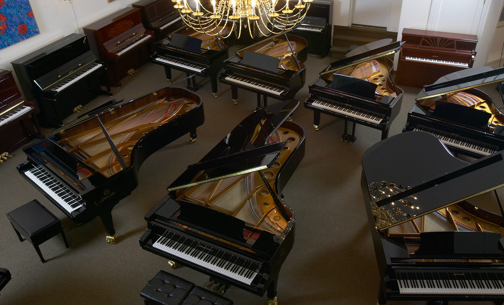 Piano Showroom of Uprights and Grands